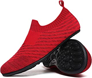 QZKDM Lightweight Non Slip House Slippers Home Yoga Sock Shoes for Womens and Mens