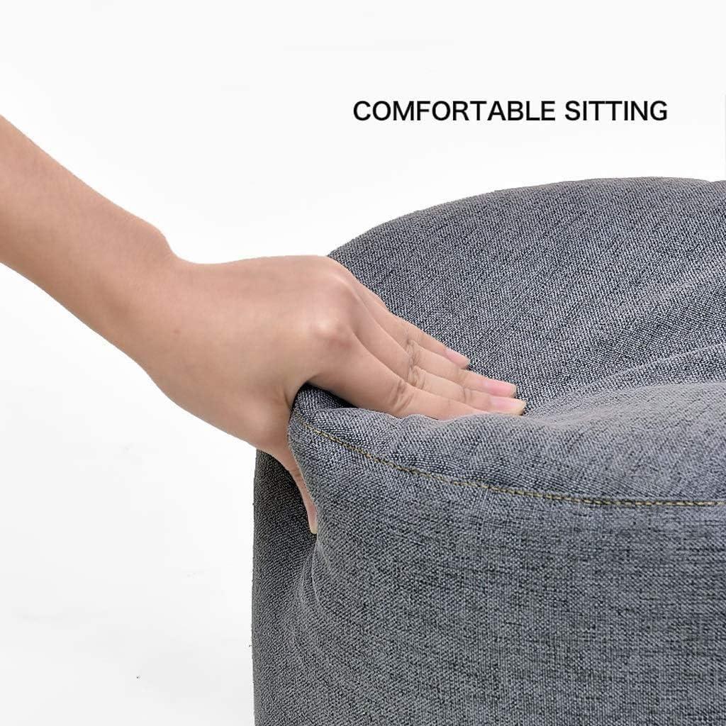 HOMRanger Tabouret Changement Banc de Chaussure Columnar Chaise de siège Confortable Tabourets de Pieds Ronds Simples Tabouret de Maison Multifonctionnel (Couleur: Brun) 1