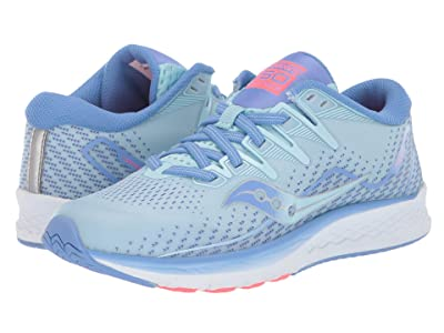 Saucony Kids Ride ISO 2 (Little Kid/Big Kid) (Blue/Coral) Girl
