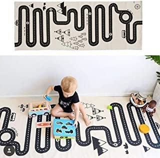 Muyumida Baby Crawl Mat Kids Adventure Rug Floor Mat Street Map Funny Baby Infant Blankets Tapestries Crawling Carpet Kids Rug