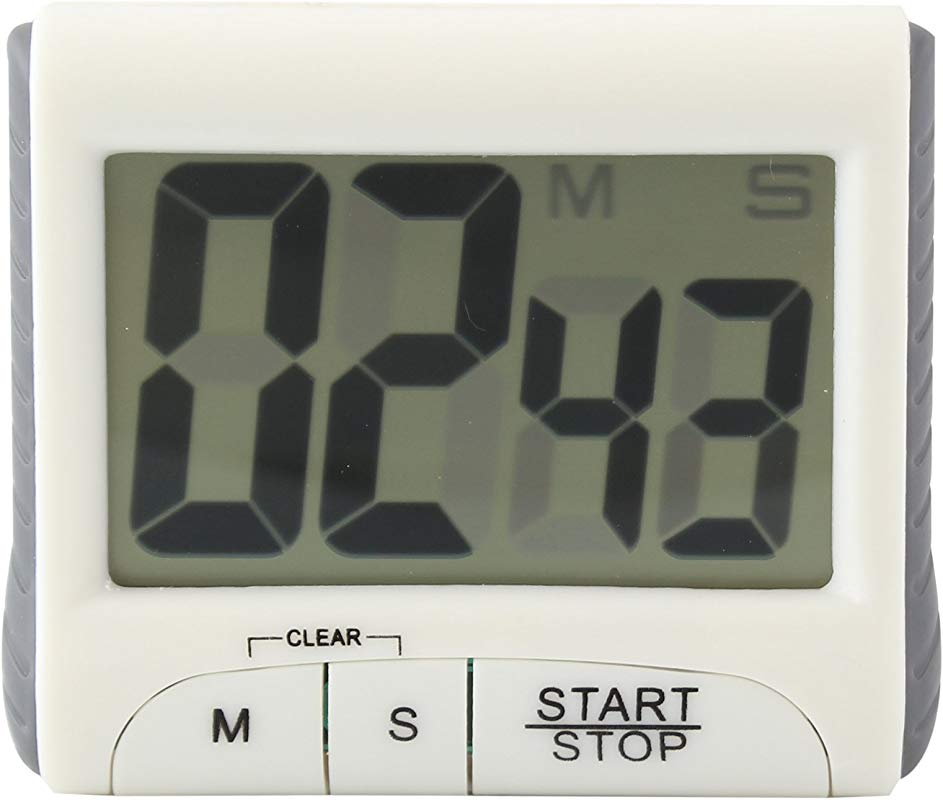 White Digital LCD Timer With Stand Electronic Countdown Alarm Kitchen Timer With Magnet
