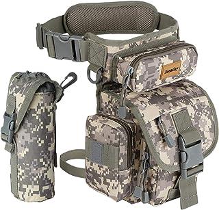 Jueachy Bolsa de Pierna Táctical Militar Impermeable Multifuncional, Bolso de Cintura al Aire Libre para Hombre Mujere, Ri...