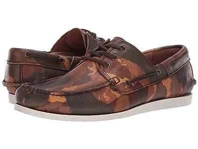 Frye Briggs Boat Shoe (Camo Printed Veg Tan) Men