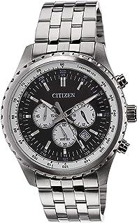 Citizen Men's Black Dial Stainless Steel Band Watch - AN8060-57E