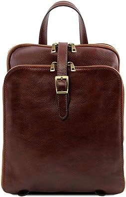 Tuscany Leather Taipei Zaino in pelle con tre scomparti