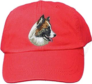 Red Dog Breed Embroidered Adams Cotton Twill Caps (All Breeds)