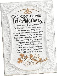 Biddy Murphy 'God Loves Irish Mothers'' Irish Wall Decor Cream Celtic Irish Blessing Family Home Plaque for Irish Mother's Ready to Hang Wall Hanging