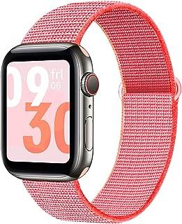 Lwwhama Nylon Soft Strap para Apple Watch Band Series 6 5 38mm 42mm Accesorios de reemplazo transpirable para iWatch Serie...