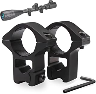 Modkin 11mm Dovetail Scope Mounts for 1'' Scope Tube High Profile for Airguns or Premium .22 Rifles (Set of 2)