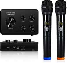 Sound Town Wireless Microphone Karaoke Mixer System w/ HDMI ARC, AUX, Bluetooth -Support..