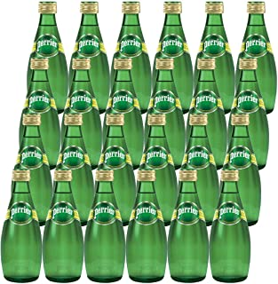 Perrier Sparkling Mineral Water - Glass Bottle, 24 x 330 ml