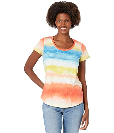Vince Camuto Short Sleeve Scoop Neck Ombre Reflect