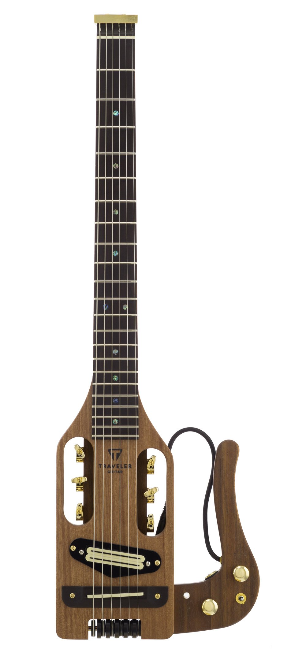 Cheap Traveler Guitar 6 String Pro-Series Deluxe (Mahogany) Hybrid Acoustic/Electric w/Gig Bag Right Natural Satin PSD MHS Black Friday & Cyber Monday 2019