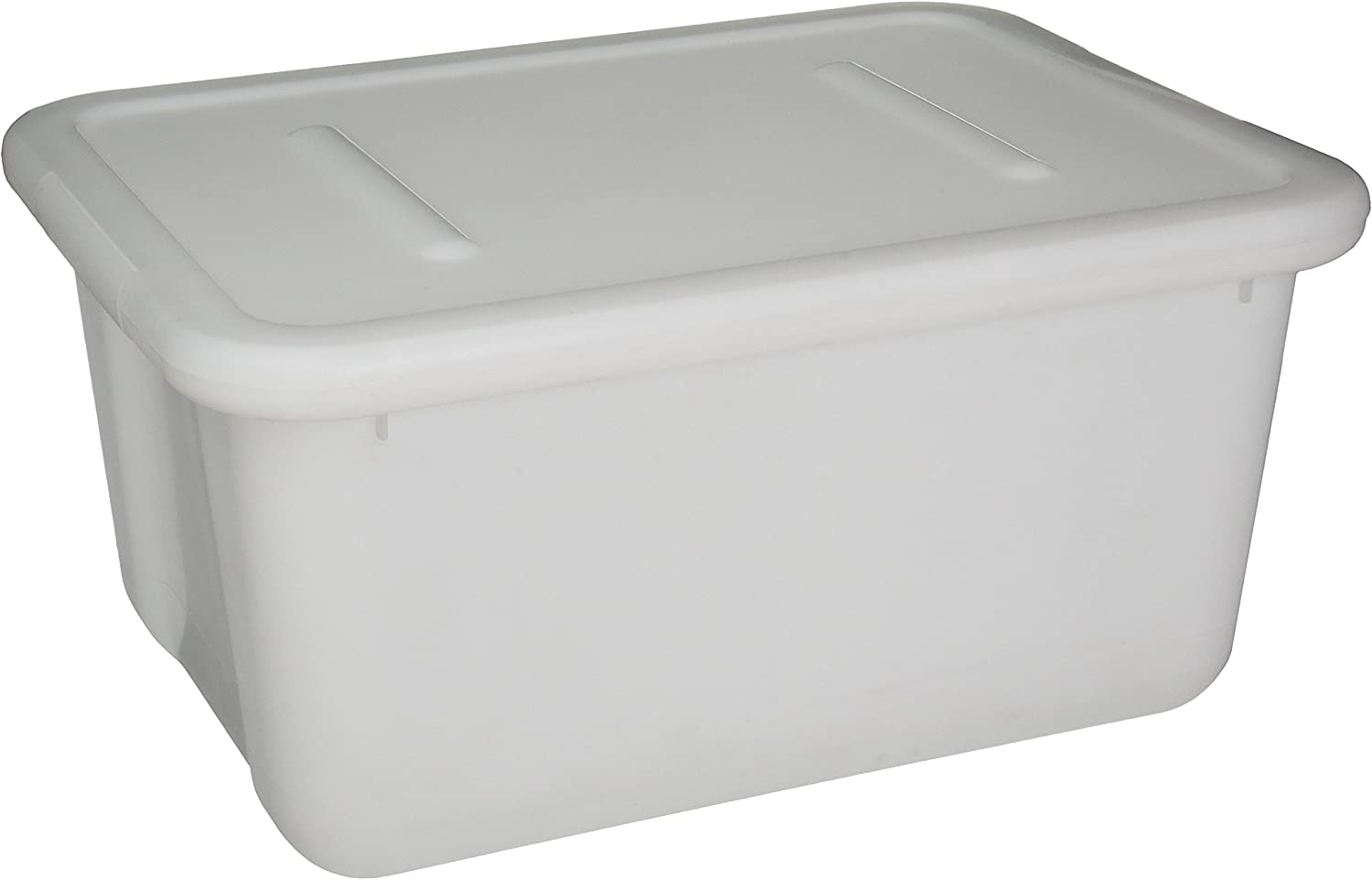 School Specialty 276871 Storage Tote with Lid, 15 Quart, 7-1 2  x 11-3 4  x 15-1 2 , Translucent