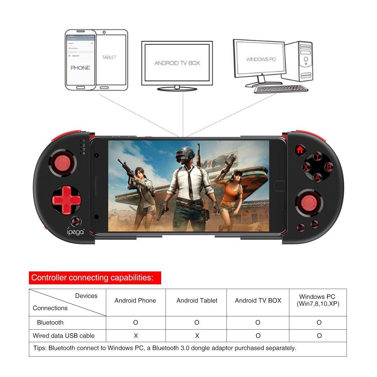 Mando de Juegos Bluetooth Extensible Soporte inalámbrico Joystick ...