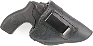 ComfortTac The Protector Leather IWB Holster for J Frame Revolvers Including Ruger LCR, S&W 442 and 642, Taurus, Charter Arms, Rock Island Armory M206, Most .38 Special Revolvers