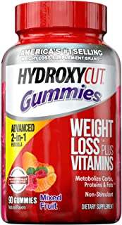 Weight Loss Gummies for Women & Men | Hydroxycut Caffeine-Free Weight Loss Gummy | Non-Stim Weight Loss Supplement | Metab...