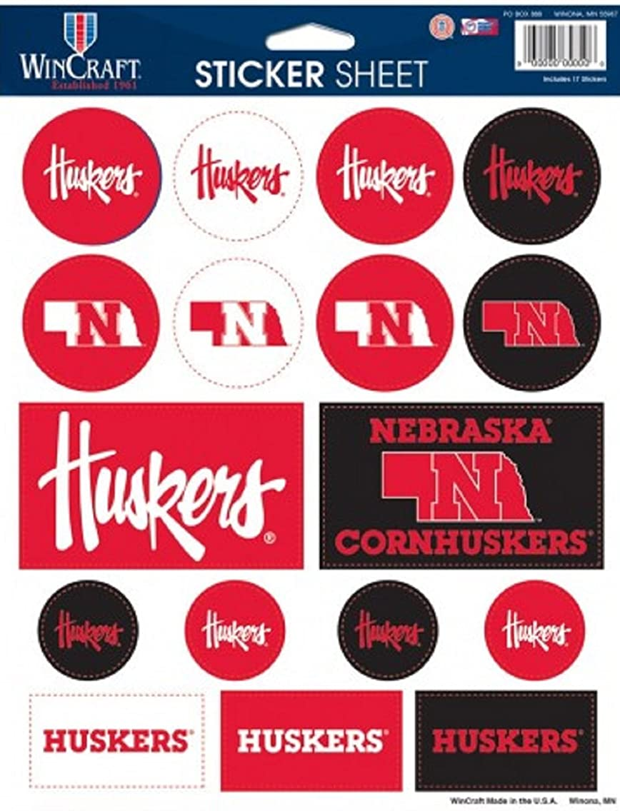 NCAA Color Vinyl Sticker Sheet, 8.5