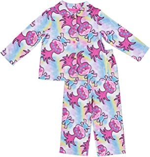 Trolls Movie DreamWorks Girls Pajamas - 2-Piece Long Sleeve Pajama Set