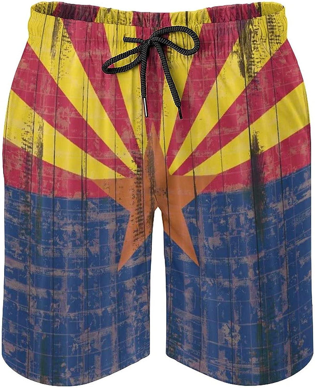 Harolion Sale price Mens outlet Swim Trunks Arizona Flag Shorts Quick Beach Sw Dry