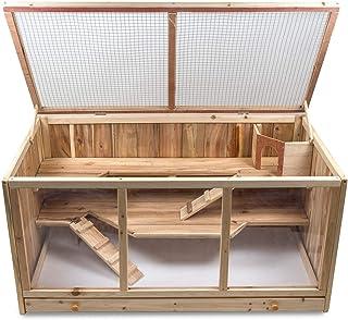 Julido Maxi klatka dla chomików, klatka dla małych zwierząt, drewniana klatka dla gryzoni, klatka na myszy, szczury, z dre...