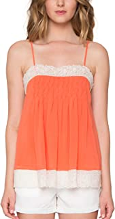 Willow & Clay Paradise Babydoll Tank, Tangerine, Size M