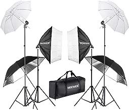 Neewer 800W Fotografía Softbox y Paraguas Kit Iluminación: 24