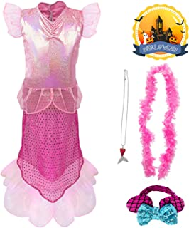 Princess Mermaid Costume, Mermaid Dress Up Costume Accessories Set, Mermaid Role Play Costumes 4 pcs Party Outfit