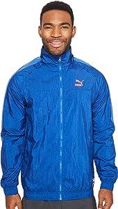PUMA Men's Color Block Track Jacket True Blue Outerwear