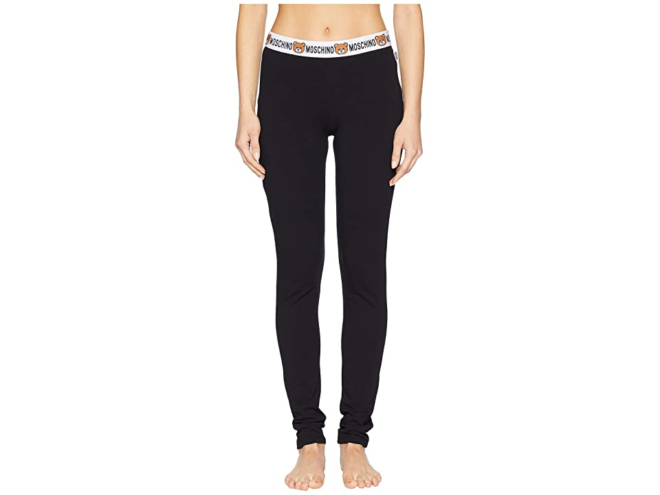 Moschino Jersey Stretch Leggings (Black) Women