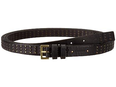AllSaints 18mm Double Wrap Mini Stud Belt (Black) Women
