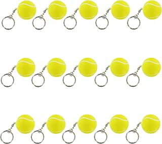 iMagitek 15 Pack Tennis Ball Keychains for Kids Party Favors Supplies, School Carnival Prizes, Party Bag Gift Fillers, Tennis Ball Stress Relieve Ball