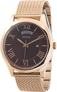 Guess Dress Watch for Men, Stainless Steel Case, Red Dial, Analog -W0923G3