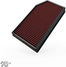 K&N engine air filter, washable and reusable:  2018-2020 Jeep Wrangler JL and Gladiator 33-5076