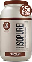 Isopure Low Carb Naturally Sweetened, Zinc for Immune Support, 25g Protein, Keto Friendly Protein Powder, 100% Whey Protei...