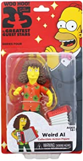 NECA The Simpsons 25 Greatest Guest Stars Series 4 Weird Al Yankovic Collectible Action Figure Season 19 Episode 11