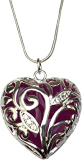 Purple Glowing Heart of Winter Violet Necklace
