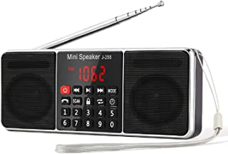 PRUNUS J-288 AM/FM Radio Portable, Hands-Free Bluetooth Radio Stereo Speaker with Sleep Timer, Power-Saving Display, Ultra...