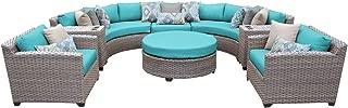 TK Classics FLORENCE-08e-ARUBA 8 Piece Outdoor Wicker Patio Furniture Set, Aruba
