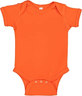 20dc918fe Rabbit Skins Infant 100% Cotton Jersey Lap Shoulder Short Sleeve Bodysuit