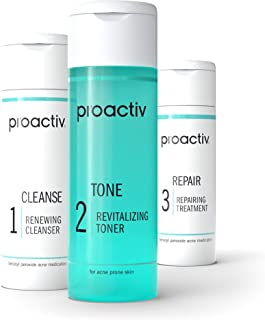 Best Proactiv 3 Step Acne Treatment - Benzoyl Peroxide Face Wash, Repairing Acne Spot Treatment For Face And Body, Exfoliating Toner - 30 Day Complete Acne Skin Care Kit Review