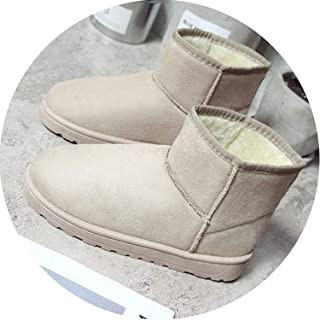 Winter Women Ankle Boots Fashion Snow Boots Plus Size Flat Booties Keep Warm Woman Cotton Shoes