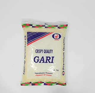 Gari Premium White Ghana Gari 2.2 LB ( 100% Natural West African Grated Cassava)