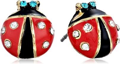 Betsey Johnson Women's Ladybug Studs
