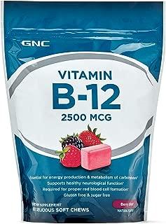GNC Vitamin B-12 2500 MCG Soft Chews, Berry Blast, 60 ea