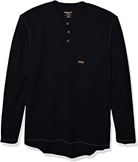 Men's Rebar Pocket Long Sleeve Henley Shirt