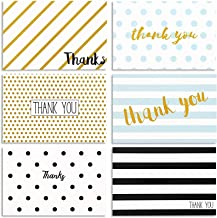 48 Pack Thank You Cards with Envelopes, Notes for All Occasions, Wedding, Birthday, (6 Designs, Blank Inside)