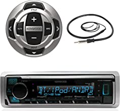 Kenwood Marine Boat Yacht Digital Media USB AUX Bluetooth Stereo Receiver (No CD), Kenwood Wired Remote, 22
