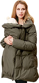 Sweet Mommy Maternity and Mother's Down Duffle Coat with Baby Wearing Pouch