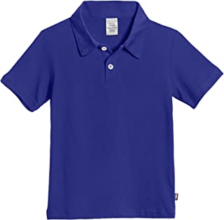 City Threads Boys 100% Cotton Polo Uniform Shirt Modern Fit, Made in USA